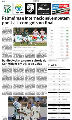 Confira Como Foram Os Jogos De Ontem Do Brasileirao Jornal Mantiqueira
